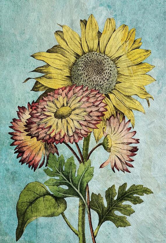 Sonnenblume Dekor Sonnenblume Sonnenblume Kunst Geschenk | Etsy
