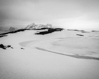 Iceland, black and white photography, landscape -digital