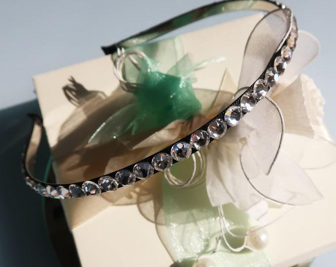 DAINTY but ELEGANT Swarovski® crystal headband, Wedding Hair Accessory, Bridal Wedding Hairpiece