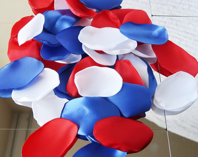 PREMIUM Red White and Blue Rose Petals / 4th July / Wedding Rose Petals / Rose Petals / Flower Girl Rose Petals / Confetti / Patriot Decor