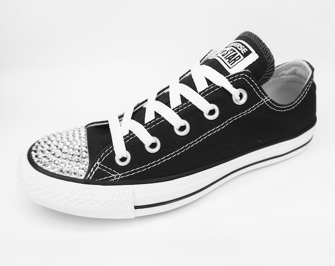 LUXURY Black Customised Swarovski Chuck Taylor All Star Converse