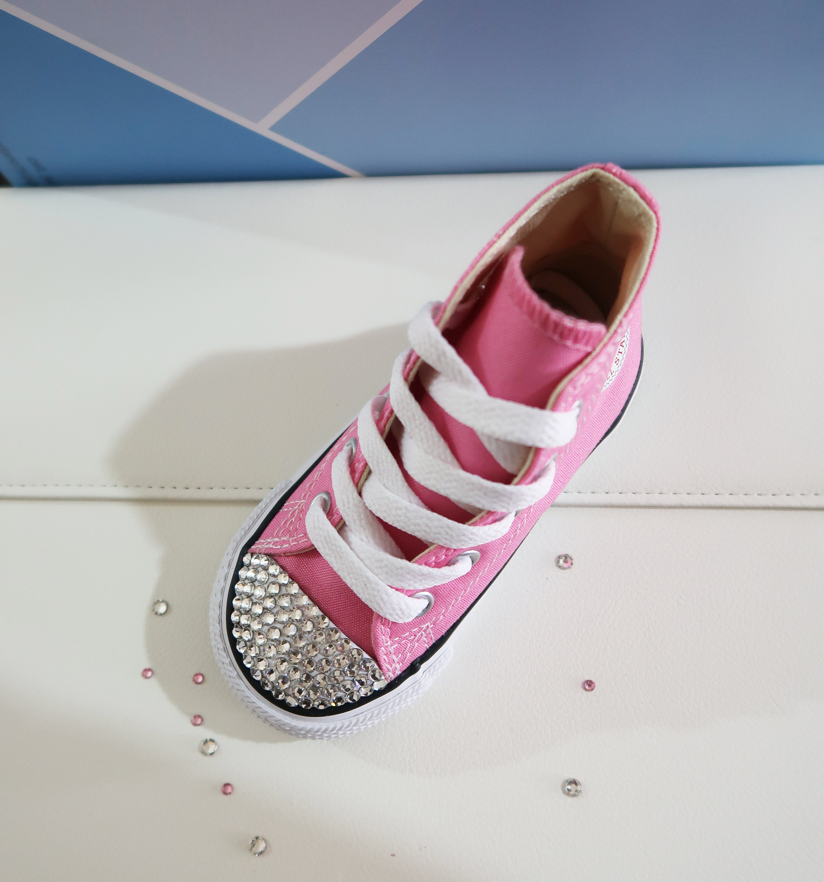 2eed108b9 LUXURY Customised Swarovski Crystal Converse® Chuck Taylor All Star High  Top Infant/Toddler Shoe Embellished With Finest Swarovski Crystals. 1