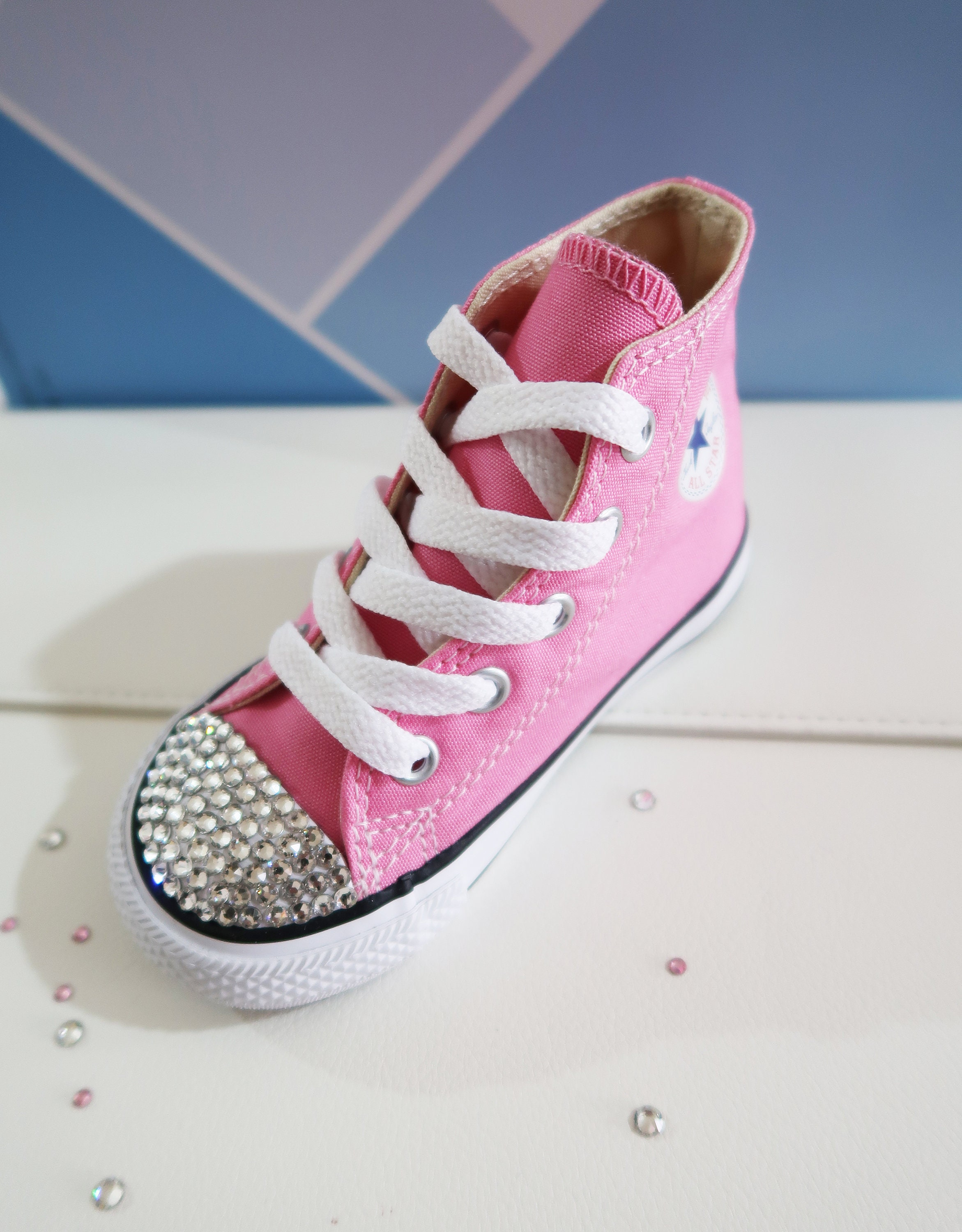 0193e74a40c8 LUXURY Customised Swarovski Crystal Converse® Chuck Taylor All Star High  Top Infant Toddler Shoe Embellished With Finest Swarovski Crystals