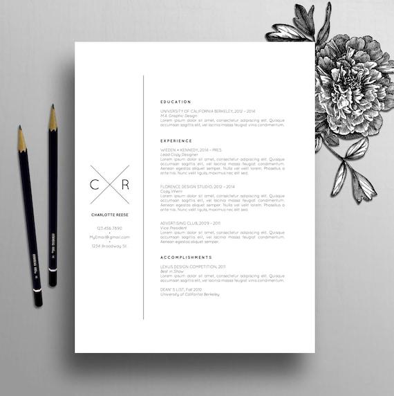 Kreative Lebenslauf Vorlage Cv Vorlage Anschreiben Für Ms Etsy