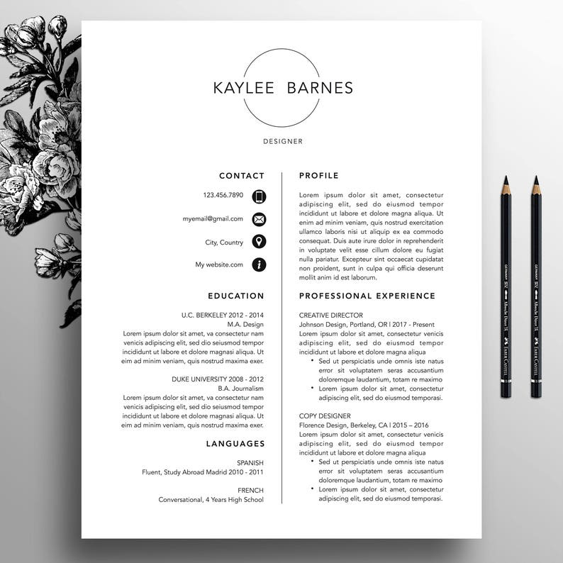 Professional Resume Template CV Simple