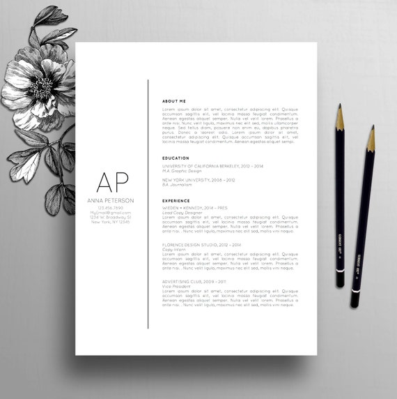 creative cover letters professional resume template cover letter template etsy 3364