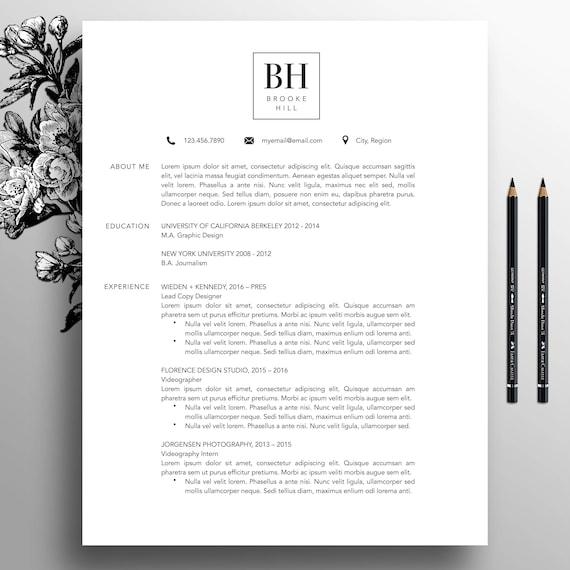 Moderne Lebenslauf Vorlage professionelle CV Vorlage MS Word