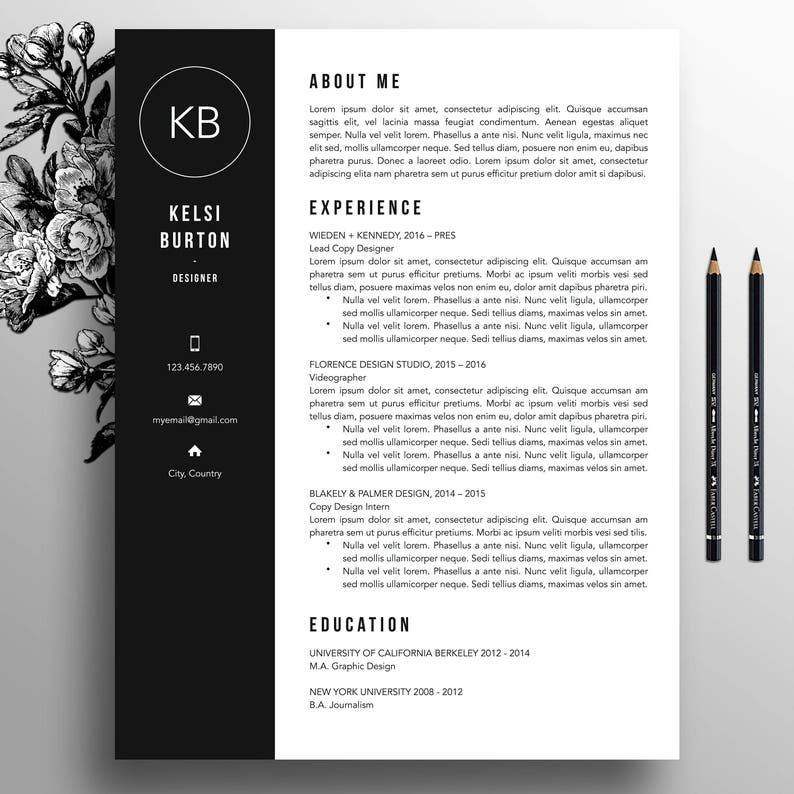 Professional Resume Template Cover Letter