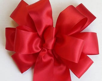 Satin Red Bow