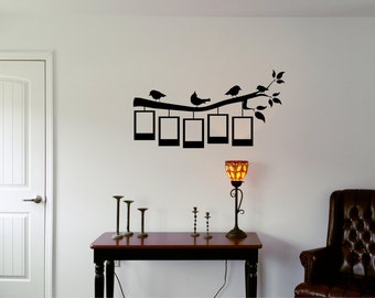 36in Tree Branch with picture frame wall decal