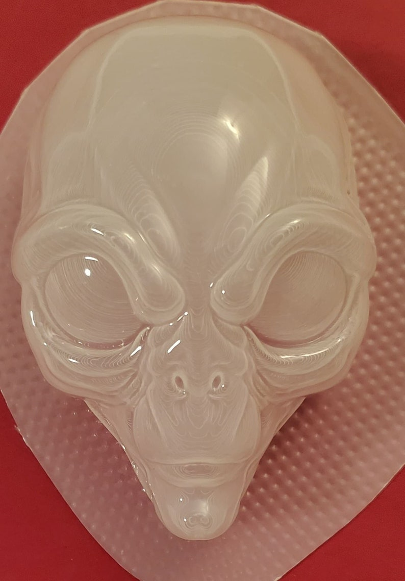chocolate mold resin mold alien mold bath bomb mold extraterrestrial mold Detailed Alien Head Plastic Mold or Silicone mold soap mold