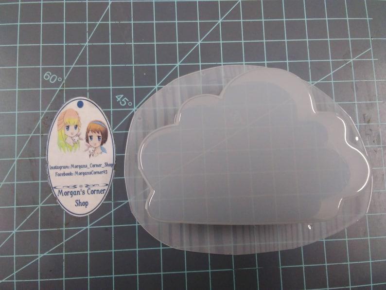 bath bomb mold soap mold resin mold candy mold silhouette mold Cloud Silhouette Plastic Mold or Silicone Mold cloud Mold rain cloud