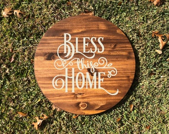 Bless This Home Lazy Susan