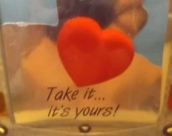 tinman photo frame'take it its yours' silloette.