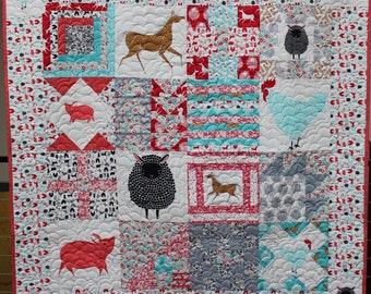 Farm Charm Sampler Handmade Quilt