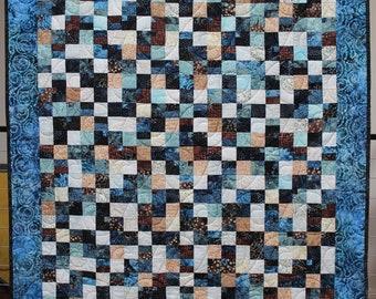 Tide Pools Handmade Patchwork Quilt