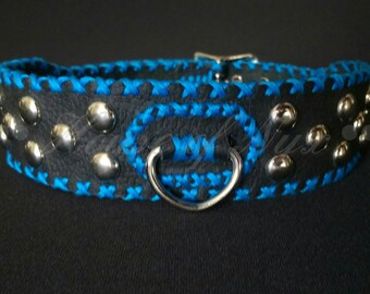 Collar ~ People Collar ~ Leather ~ Choose Blue or Purple