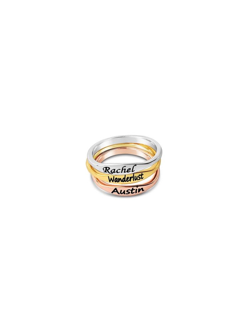 Custom Word Ring Custom Jewelry Custom Name Ring Rose Gold Memorial Jewelry Gold Silver