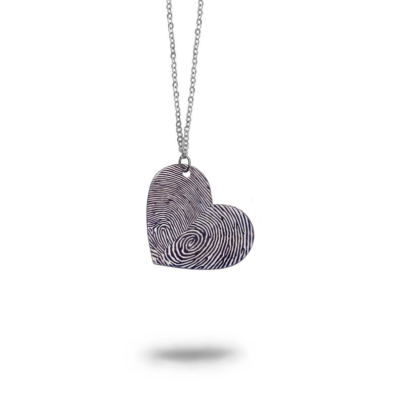 6f6edef36 Custom Fingerprints Heart Necklace Personalized Jewelry | Etsy