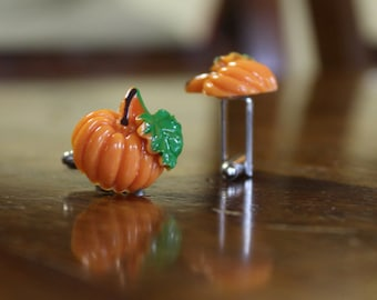 Pumpkin Garden Cufflinks, Halloween Cuff Links, October Harvest Cuff links