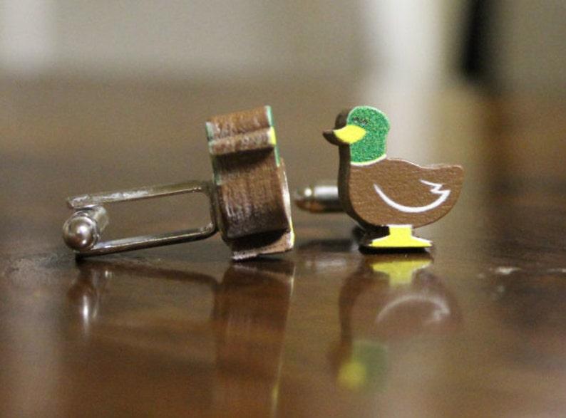 outdoorsmen cuff links Duck Cufflinks Wooden Cuff Links Hunter gift