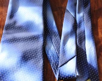 Navy Vintage Necktie, Wide Tie