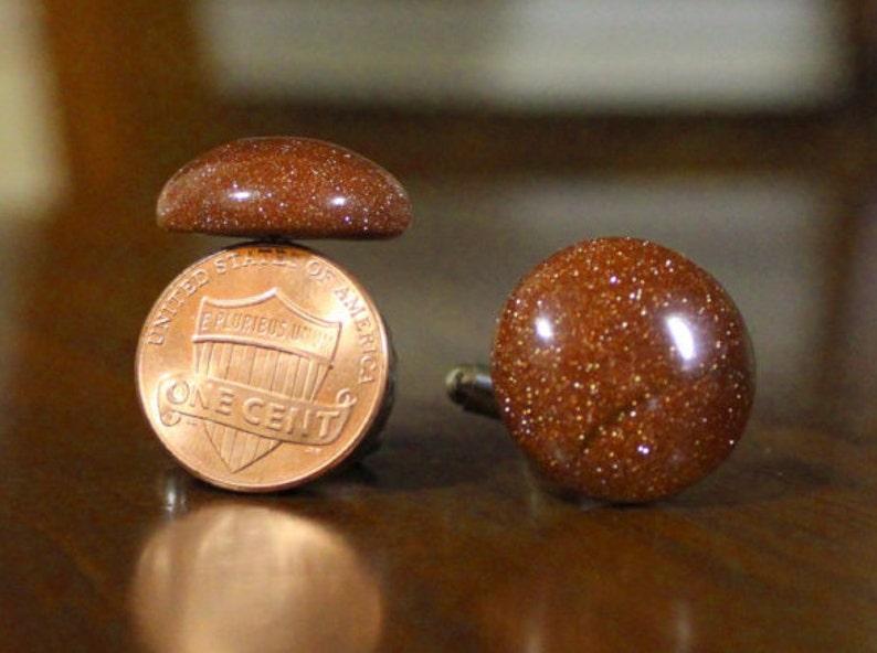 gemstone cuffs Gold Sandstone Gemstone Cufflinks Cuff Links gem cuff links Stone cuff links