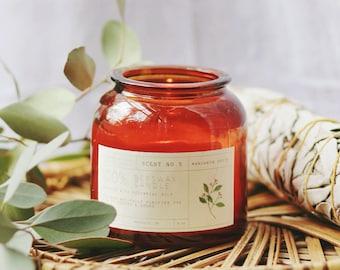 Mandarin Spice Beeswax Candle