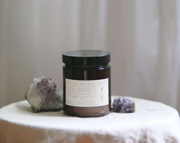 Lavender Beeswax Candle (in Limited Run Jar)