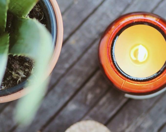 Lemongrass & Cedarwood Beeswax Candle