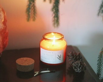 Fir Needle Beeswax Candle