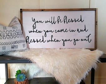 Be Blessed sign
