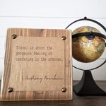 Anthony Bourdain Travel Quote l Typewriter Quote Block l Inspirational Quote Decor