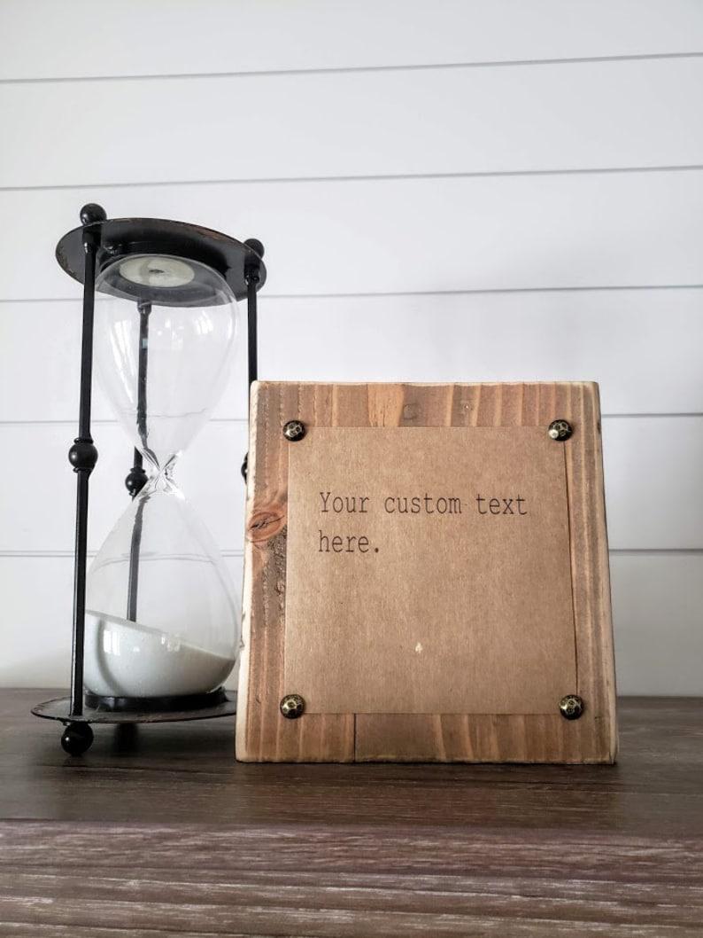 Typewriter Quote Block Your Custom Text Inspirational Decor image 0