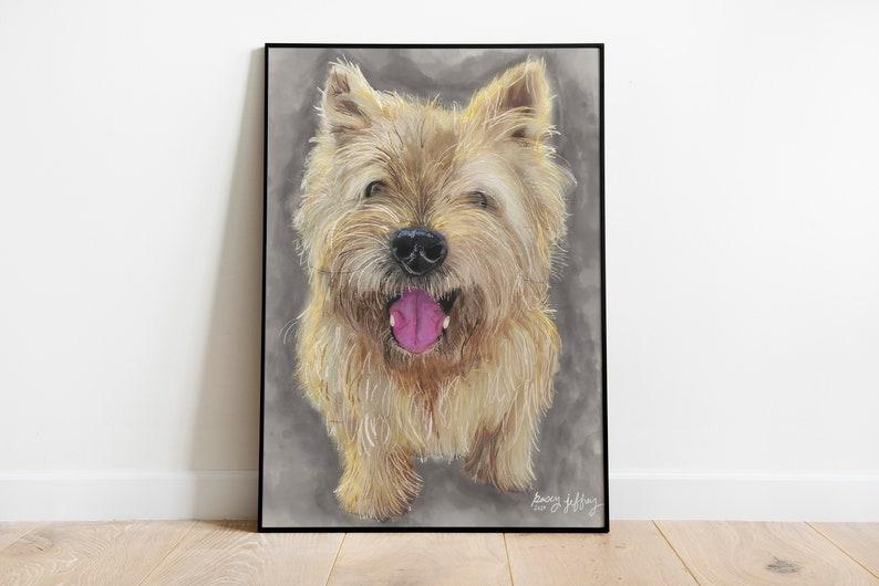 Custom Pet Portrait / Pet Portrait Painting / Dog / Cat / Pet image 1