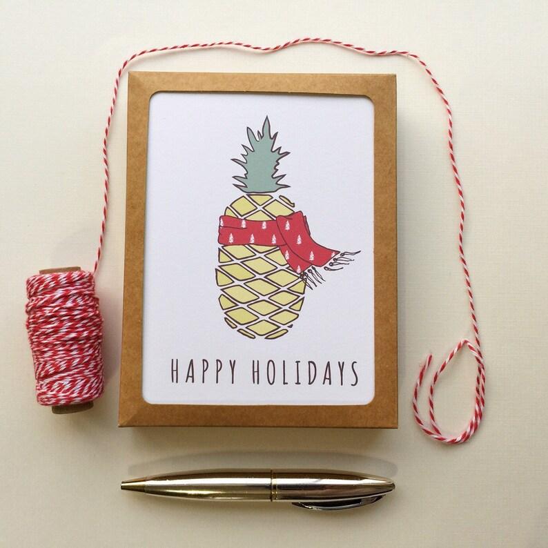 Christmas Pineapple Holiday / Funny Christmas Card Set of 10 / image 0