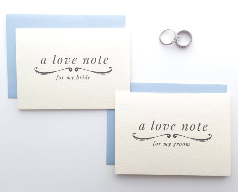 Love Note To My Bride Card / To My Groom Card / Wedding Card / image 0