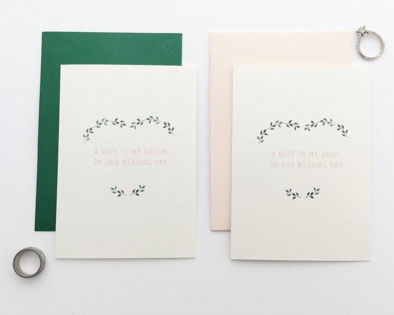 To My Groom Card / To My Bride Card / On Our Wedding Day image 0