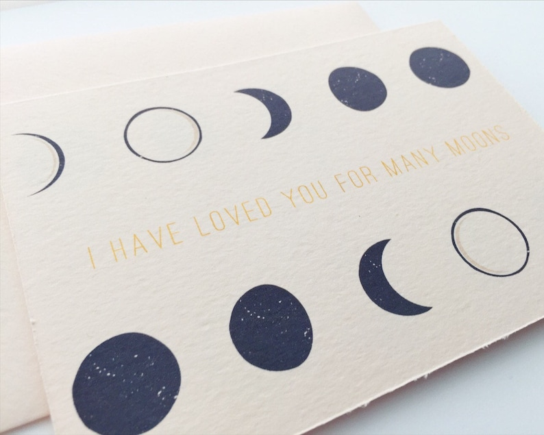 To My Groom Card / To My Bride Card / Moon Wedding Day Card / image 0
