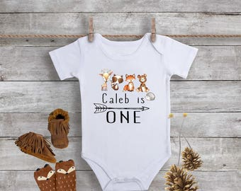 b5693613d First Birthday Onesie,1st Birthday Outfit,Baby Girl First Birthday,Woodland  Birthday Onesie,Floral Birthday,Fox Birthday Onesie,Bodysuit