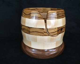 Mothers Day Gift-Knitting Bowl-Yarn Bowl-Segmented Yarn Bowl-Yarn Bowls for Sale- Handmade Knitting Bowl-Hand Turned Bowl For Knitting 8-011
