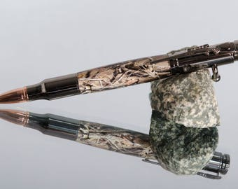 Fathers Day Gift-Gifts For The Hunter-Bolt  Action Ink Pens-Real Camo Pens-Acrylic Camo Pens-Gift for Him-Pens For Sale-Custom  Pens #259