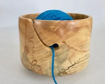 Mothers Day Gift-Knitting Bowl-Yarn Bowl-Maple Yarn Bowls for Sale-Handmade Knitting Bowl-Hand Turned Bowl For Knitting 8-008