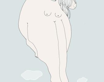 Inspirational Art Print - Butterfly Woman