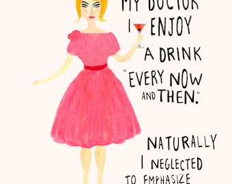 Wall Art Giclee Print - Occasional Cocktail