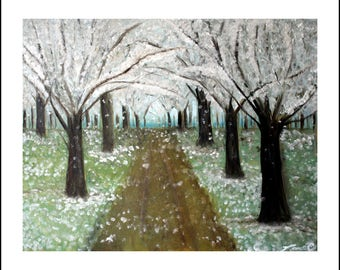 White Way of Delight - PRINT - 11x14 Full Color Print of Original Oil Painting on 16 x 20 Matte - Inspired by Anne of Green Gables