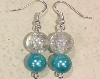 Crystal Ocean Blue Earrings