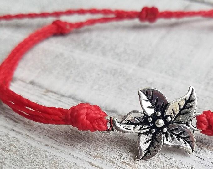Flower Bracelet, Choose A Color, Adjustable Waterproof Bracelet