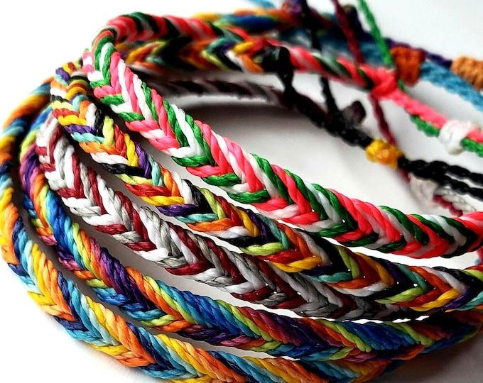 Multi-Color Thin Fishtail Bracelet, Pick Your Colors, Adjustable Bracelet, Waterproof, Fishtail Bracelet, Fishtail Anklet