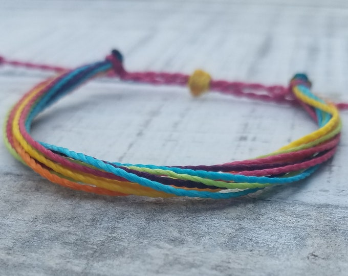 Fruity Paradise String Bracelet, Adjustable, Waterproof, Friendship Bracelet